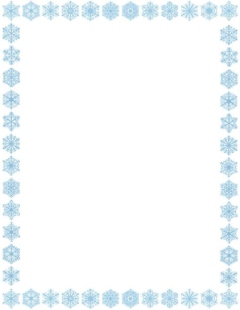 christmas snowflakes borders clipart clipart suggest