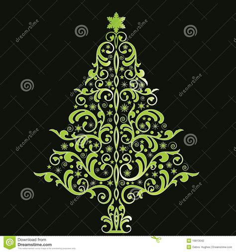 stilisierter weihnachtsbaum beautiful stylized tree stock photography
