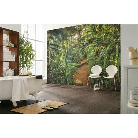 komar nature jungle trail wall mural 8 989 the home depot