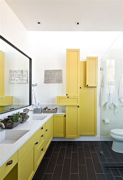 Modern Bathroom Yellow 16 Gorgeous Bathrooms With The Warm Of Yellow