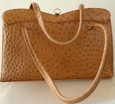 Vintage Designer Handbags Now Bag Borrow Or 2 by Ackery Designer Ostrich Leather Bag Large Handle