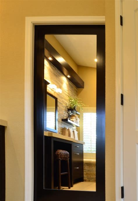 bathroom mirror doors mirrored pocket door would be fab inside an walk in closet