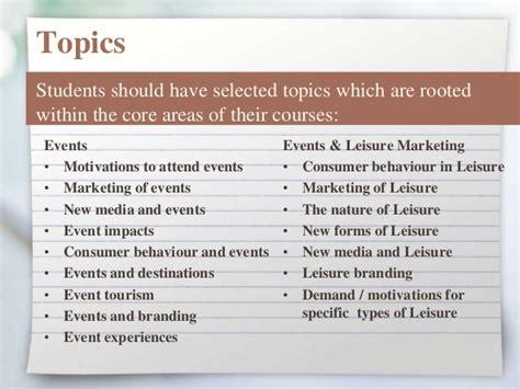 events management dissertation topics dissertation kick meeting 2015