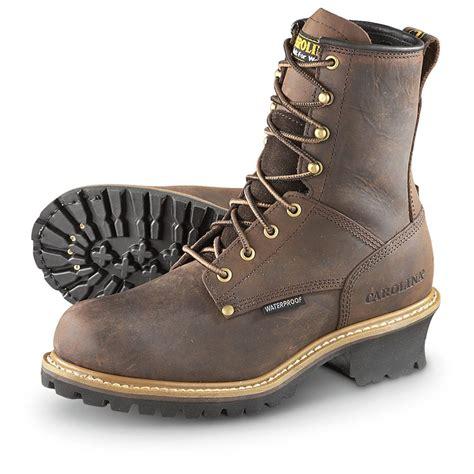 carolina boots s carolina waterproof 8 quot logger boots copper 583609