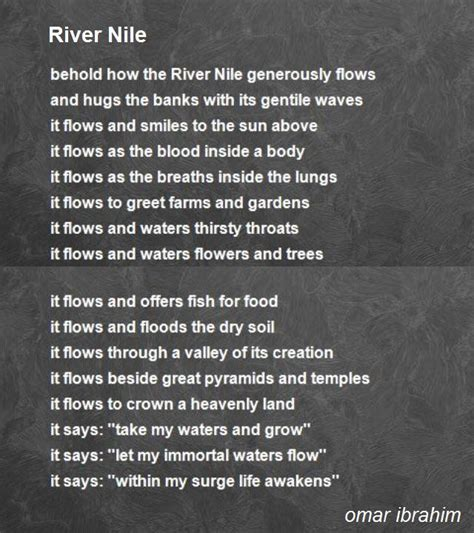 river nile poem  omar ibrahim poem hunter