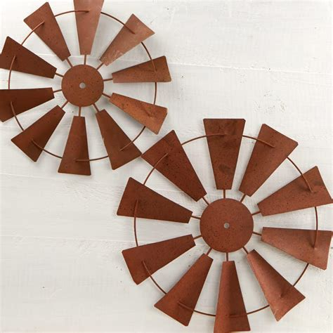 tin wall decor tin windmill wall decor set wall primitive decor