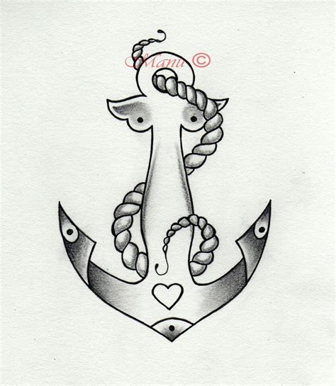 girly anchor tattoos girly anchor designs drawing ideas