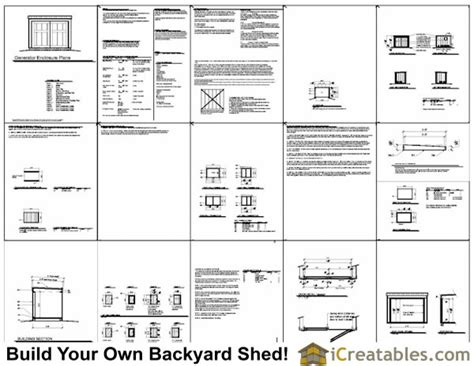 5x4 generator enclosure plans 5x4 generator shed plans