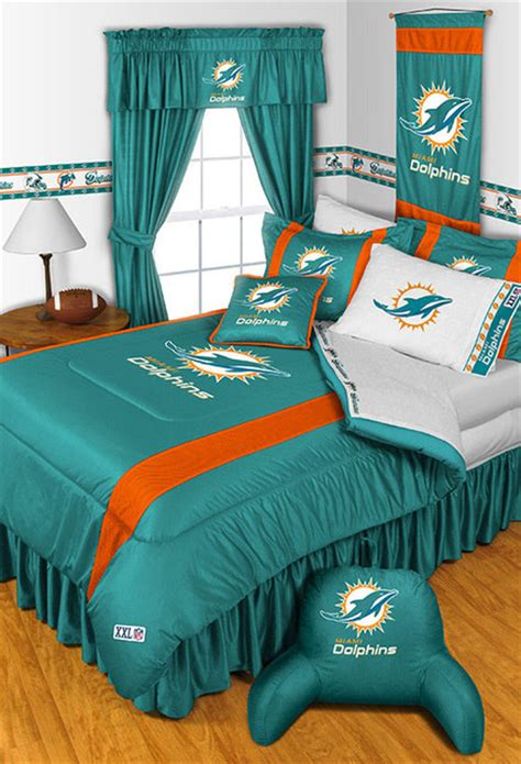 dolphin bedroom decor nfl miami dolphins bedding and room decorations modern