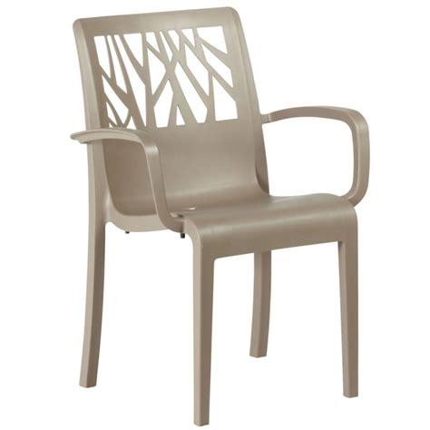 grosfillex sedie fauteuil de jardin vegetal taupe grosfillex