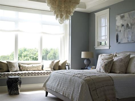 bedrooms with window seats soothing bedroom design with blue walls paint color crate