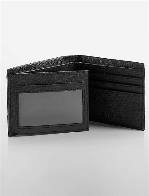 calvin klein ck wallet calvin klein mens ck coated aviator wallet ebay