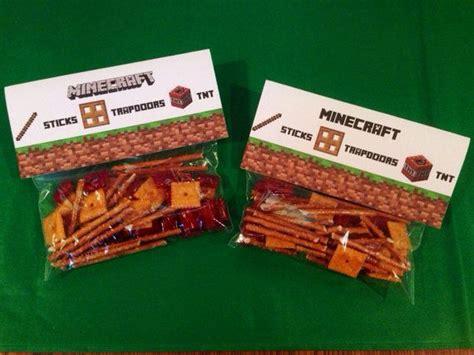 Snack Goodie Bag Label minecraft treat bag topper labels tnt food treat