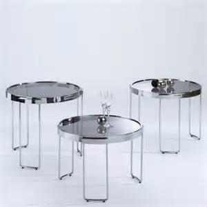 Kleine Wohnzimmertische Beistelltisch Anieta Glas Metall Modern