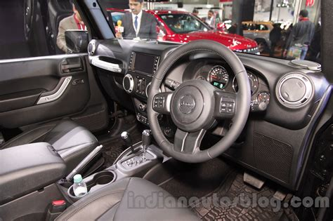 peugeot jeep interior jeep wrangler unlimited interior at auto expo 2016