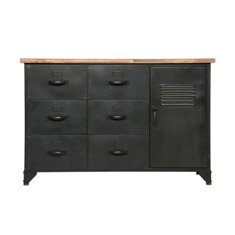 commode 6 tiroirs noir commode 6 tiroirs 1 porte quot torof quot 108cm noir