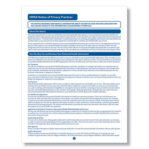 Hipaa Notice Of Privacy Practices Meet Hipaa Obligations Hipaa Notice Of Privacy Practices Template 2015