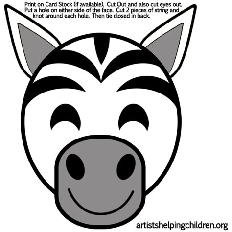 printable zebra mask best photos of preschool printable animal masks