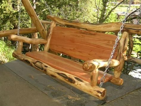 Handmade Porch Swings - handmade slab wooden porch swing search make