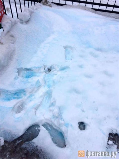 St Snow blue tinged snow seen in st petersburg russia abc news