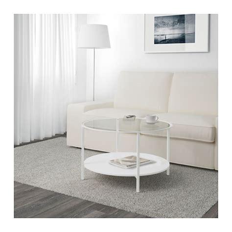 vittsj 214 coffee table white glass 75 cm ikea