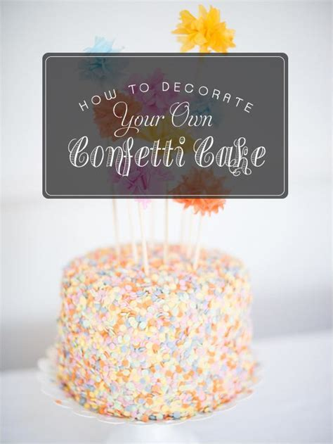 Trending   Decorate Your Own Confetti Cake