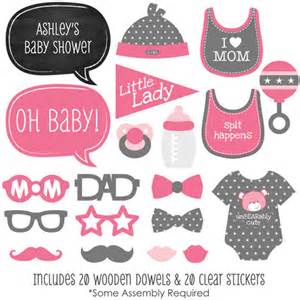 pink baby shower photo booth props babyshowerstuff com