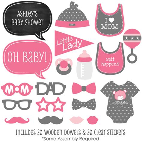 baby girl photo booth props printable photo booth baby shower images