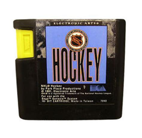Kaset Cartridge Sega Nhl hockey ea hockey for sega genesis cart only really big cartridge for some reason collected