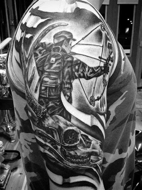 bow hunting tattoo designs 70 tattoos for skills of war in times of peace