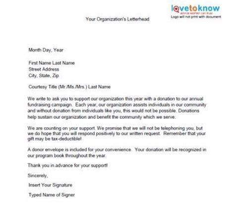 samples profit fundraising letters lovetoknow