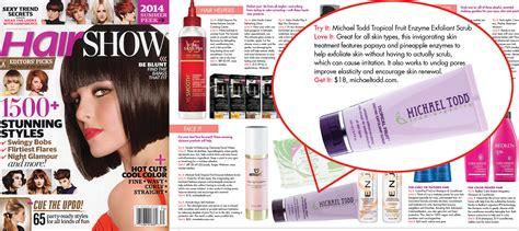 hairshow magazine fruit enzyme exfoliant scrub