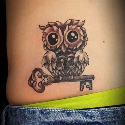 tattoo owl key 40 cute owl tattoo design ideas 2018