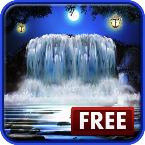 amazon com 3d night waterfall live wallpaper appstore