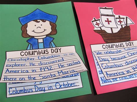 christopher columbus crafts for miss giraffe s class october writing crafts for