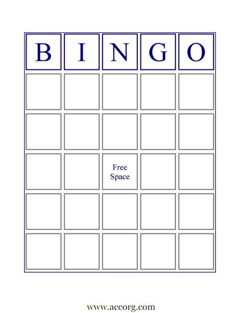 Bingo Card Template by International Bingo Association Downloads