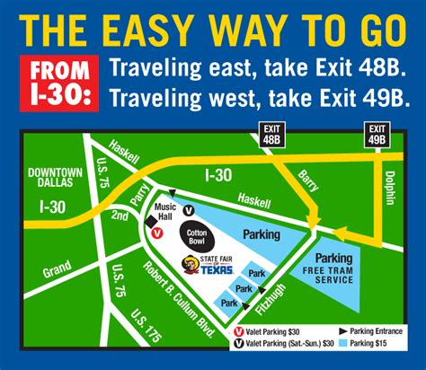 texas state fair parking map parking and directions state fair of texas