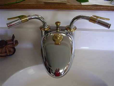 motorcycle bathroom faucet terry overacker plumbing specialty products terry
