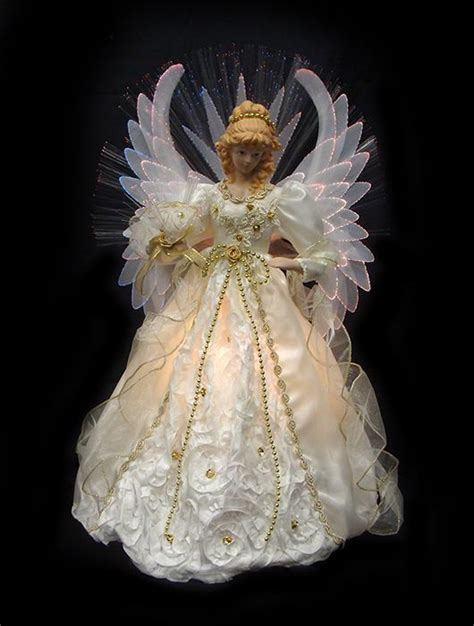fiber optic angel christmas tree topper christmas tree