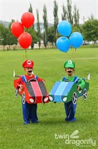 Mario and luigi go kart costumes halloween blog hop 187 dragonfly