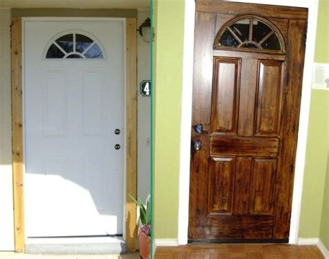 Painting Metal Front Door Best 25 Faux Wood Paint Ideas On Metal Garage Doors Metal Garages And Painted