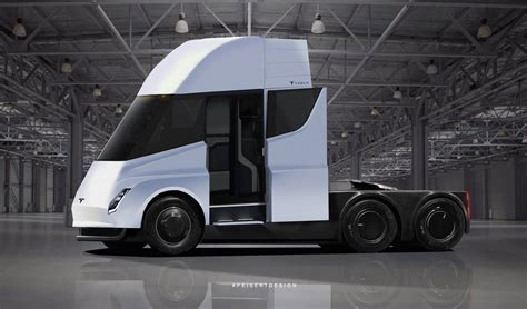 tesla truck tesla semi truck with crew cabin brought to in