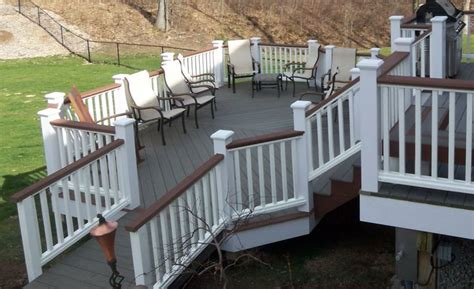 staining colors for porches evergrain composite two color composite deck patio fence colors