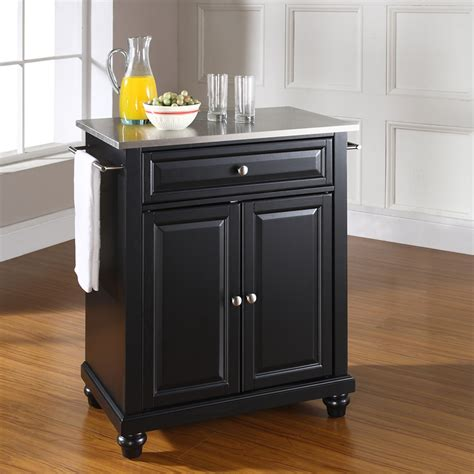 cambridge stainless steel top kitchen island black dcg cambridge kitchen island stainless steel top portable