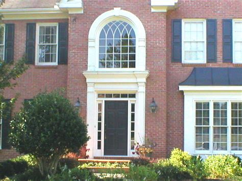 six panel entrance door with sidelites and transom and