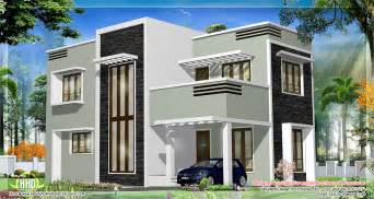 Modern House Roof 1278 Sq Feet Kerala Flat Roof Home Design House Design Plans