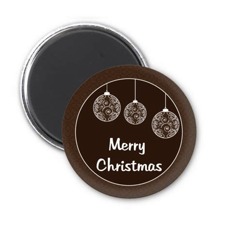 festive ornaments personalized christmas magnet favors