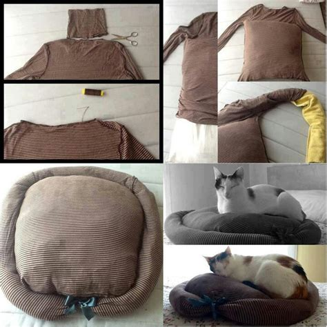 diy cat bed homemade pet bed for pets pinterest