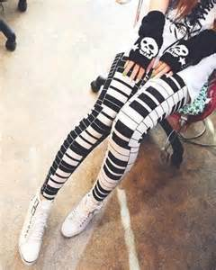 Black Patterned Duvet Covers Piano Print Leggings