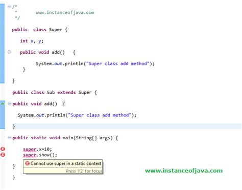 java tutorial this keyword super keyword interview questions java instanceofjava